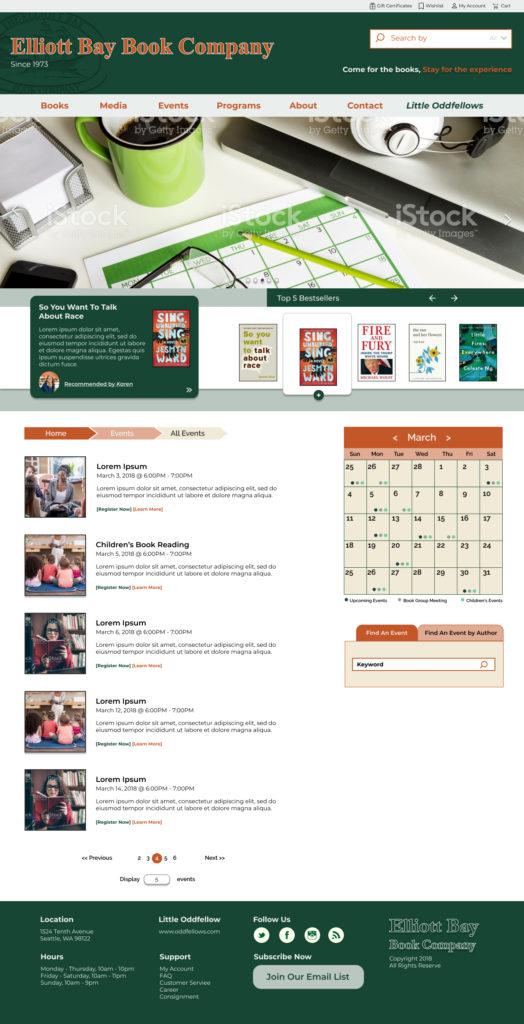 EBBC Events Page Visual Design