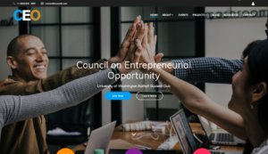 CEO Club website Screenshot as of 2018